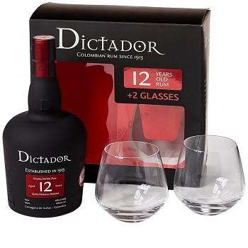 DICTADOR SOLERA 12Y + 2xSKLO 0,7l40%obj.